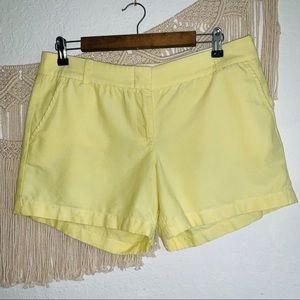 JCrew Chino Shorts Yellow Size 10